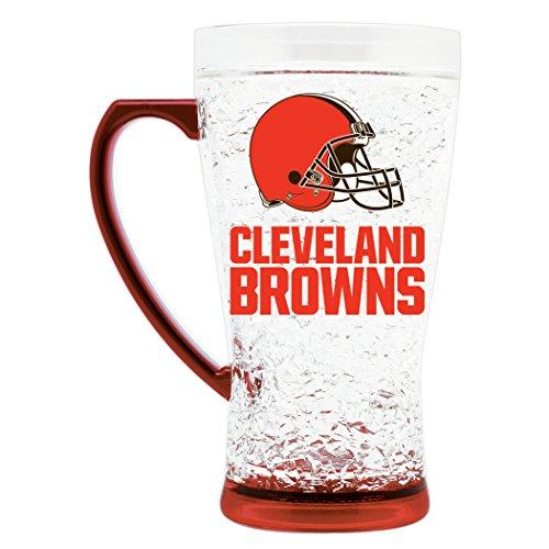 NFL Cleveland Browns 16oz Crystal Freezer Flared Mug