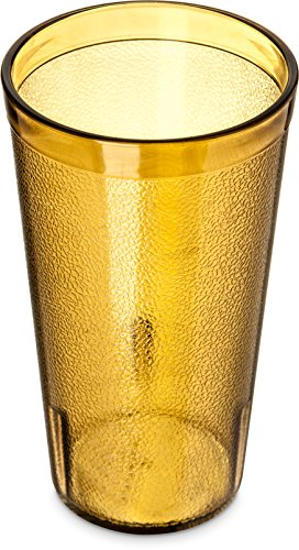 Carlisle 5216-8113 BPA Free Plastic Stackable Tumbler, 16 oz., Amber (Pack of 6)
