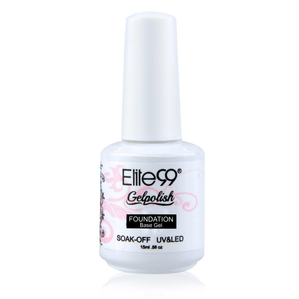 Elite99 Soak off Base Coat Gel Polish Lacquer Nail Art UV LED Manicure Varnish 15ml QIMISI