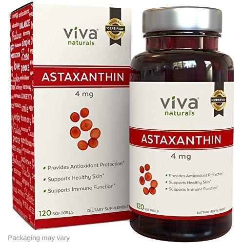 Viva Naturals Pure Astaxanthin 4mg, 120 Softgels