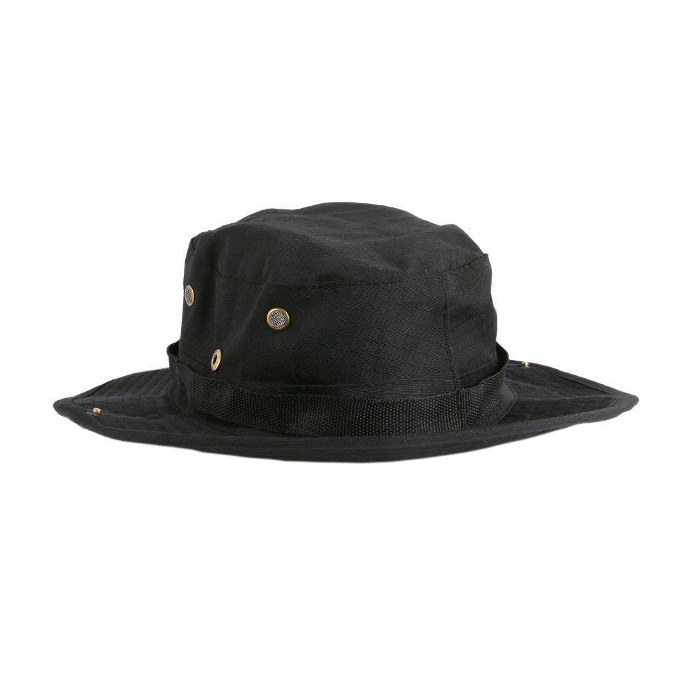 Accessoryo 58cm Noir Uni Jungle Style De Chapeau De Safari