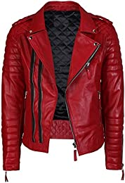 Amazon.com: Red - Leather &amp Faux Leather / Jackets &amp Coats