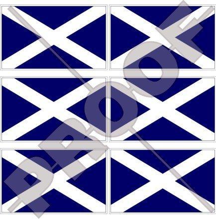 (SCOTLAND Scottish Flag UK St Andrew's Cross, Saltire 40mm (1,6
