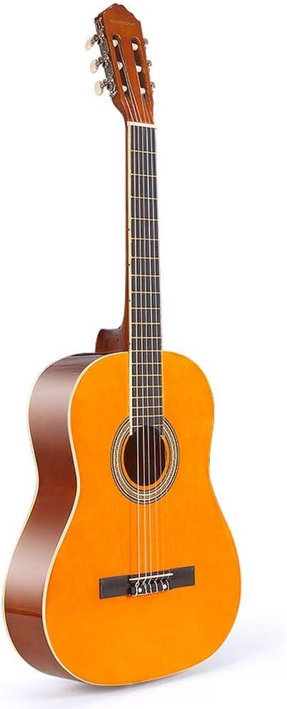 Boll-ATur Guitarra acústica clásica (39 pulgadas) Cuerda de nylon Nivel de rendimiento Principiantes de guitarra con estuche de guitarra, correa, afinador, púas de guitarra (Color : Orange)