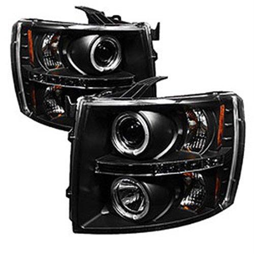 Halo Black Clear Projector Headlights - Spyder Auto 5009494 LED Halo Projector Headlights Black/Clear