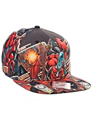 Marvel Extreme Deadpool Sublimated Adult Snapback Cap One Size Fits Most