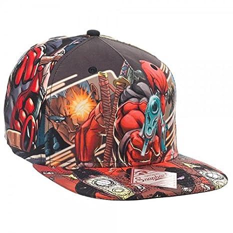Marvel Deadpool Sublimated Snapback Gorra De Béisbol: Amazon.es: Juguetes y juegos