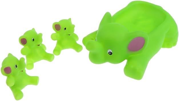 4Pcs Baby Children Bath Toys Rubber Squeaky Duck Developmental Toy