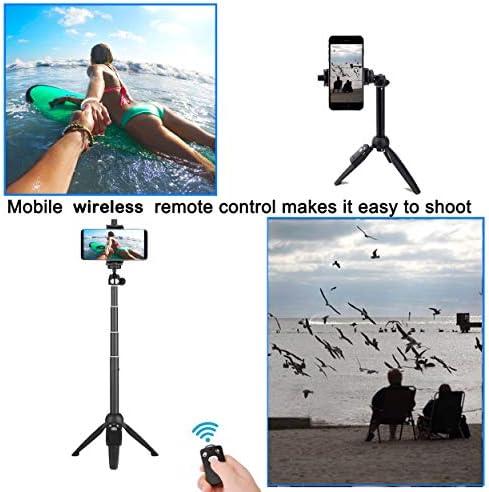 Selfie Stick 40 inch Extendable Selfie Stick TripodPhone Tripod with Wireless Remote Shutter