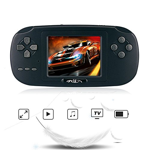 "Rongyuxuan Game Handheld Console, Game Console 2.8""LCD PVP PLUS Game Player with 168 Games Classic Handheld Game Console USB Charge Birthday for Children"
