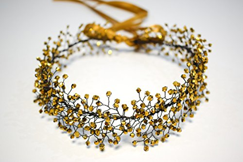 Yellow Gold Beaded Crown by MadeByChic