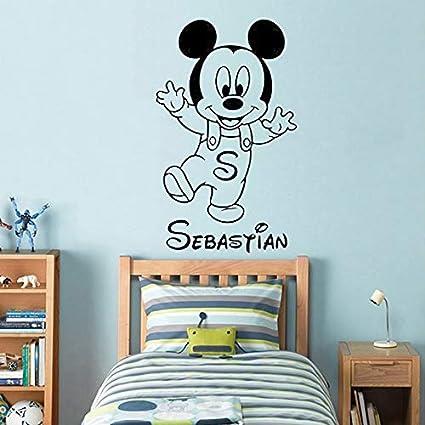 BailongXiao Sin Marco-Mouse Etiqueta de la Pared Nombre del bebé Etiqueta de niño Kindergarten Decoratio