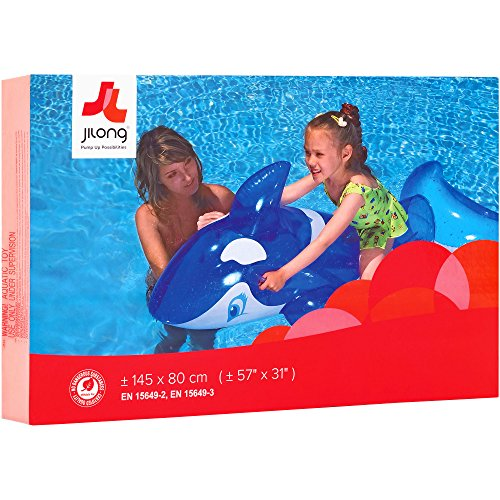 Small World Toys Acvtive Edge - Transparent Whale Rider Inflatable (Transparent Whale)