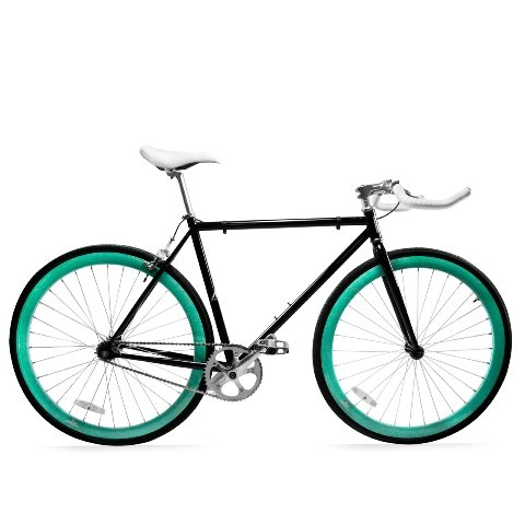 Zycle Fix ZF-BKSK2-55 Black Skies II Fixed Gear Bike, 55cm/O
