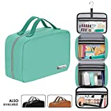 "Cruelty-Free Leather Hanging Travel Toiletry Bag for Men and Women | Large (34""x11"") 