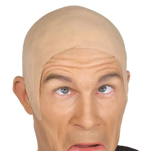 Loftus International Star Power Super Smooth Bald Head Wig Cap, One Size, Natural