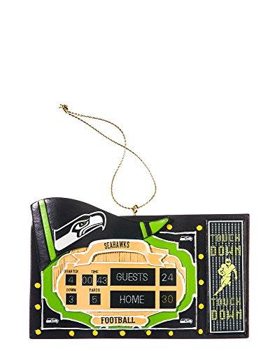 NFL Seattle Seahawks Scoreboard Polystone Ornament, Small, Multicolored (Nfl Scoreboard)