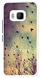 HTC One M9 Cool Be Free Birds Sky and Clouds Cute Natural Look Fashion Trend Case Back Cover Hard Plastic & Metal