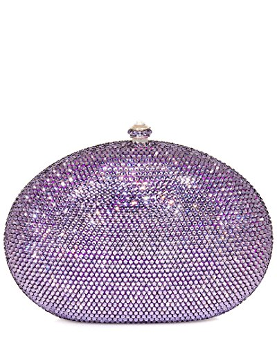 Dolli Rose Crystal Minaudiere Clutch (Lavender)
