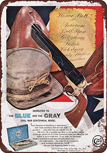 cwb2jcwb2jcwb2j 1961 Colt Civil War Centennial Model Reproductie Metalen bord 8 x 12