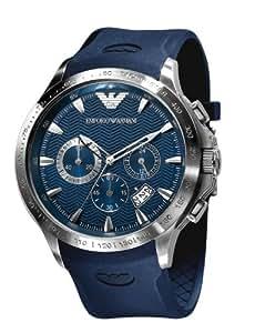 Emporio Armani AR0649 - Reloj para hombres, correa de cuero color azul