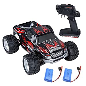 RC Car, Distianert Electric RC Car Offroad Remote Control Car RC Monster Truck RTR 1:18 Scale 2.4Ghz 4WD High Speed 30MPH Racing Car with 2 Rechargeable Batteries