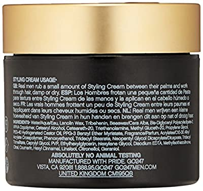 GO247 Real Men Styling Cream, 2 Oz