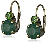 "Sorrelli ""Wild Fern"" Round Crystal French Wire Drop Earrings"