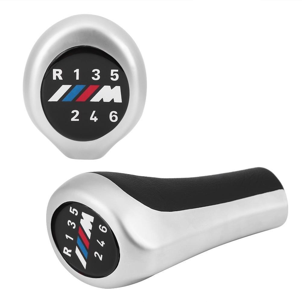 6 speed style 3 Car Gear Shift Knob Manual Speed Shift Knob Auto Gear Shifter Lever Shift Knob Stick Head for BMW 1 3 5 6 Series X1 X3 X5 E60 E61 E65 E83 E84 E90 E91 E92