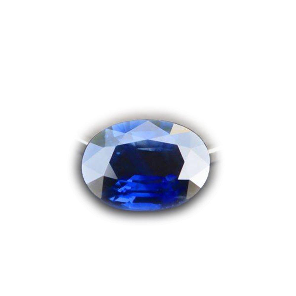 Lovemom 2.50ct Clean Eye Natural Oval Intense Blue Sapphire Thailand #A