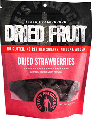 Steves Paleogoods Dried Fruit Strawberry 6 Ounce