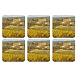Pimpernel Tuscany Coasters - Set of 6