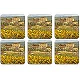 Pimpernel Tuscany S/6 Coasters