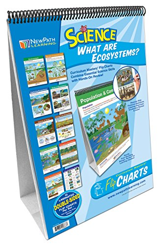 Ecosystems Flip Chart Set (Grades 3 - 5) -10 Laminated Write-On/Wipe-Off, Double-Sided Charts Mounted on Easel with Activity Guide