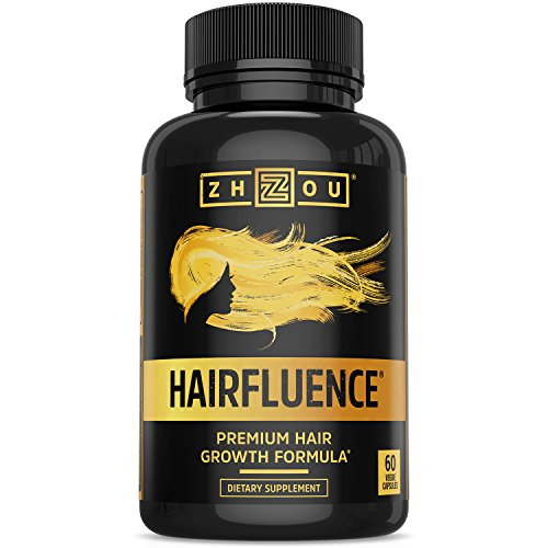 HAIRFLUENCE - Hair Growth Formula For Longer, Stronger, Healthier Hair - Scientifically Formulated with Biotin, Keratin, Bamboo & More! - For All Hair Types - Veggie Capsules (Vitamin E Capsules For Hair)