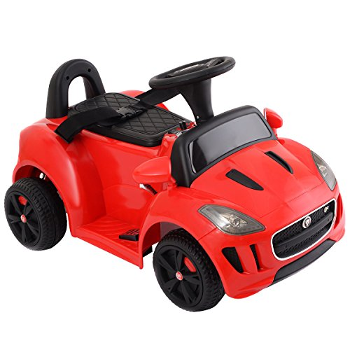 - Costzon New Jaguar F-Type 6V Electric Kids Ride On Car Licensed MP3 Battery Power Red