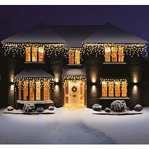 Bravich Indoor Outdoor 240 Warm White Led Icicle Lights