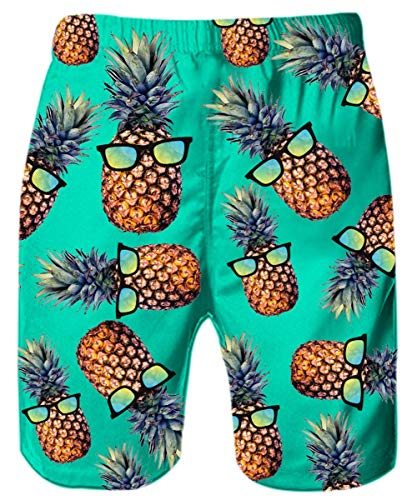 RAISEVERN Men\'s 3D Printed Swim Trunks Beach Shorts Quick Dry Boardshorts for Outdoor Surfing Holiday S-XXL