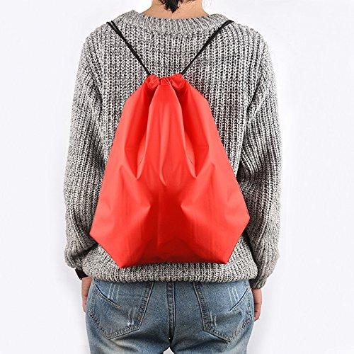 BINGONE Drawstring Bag Folding Backpack Storage Black by BINGONE (Image #7)