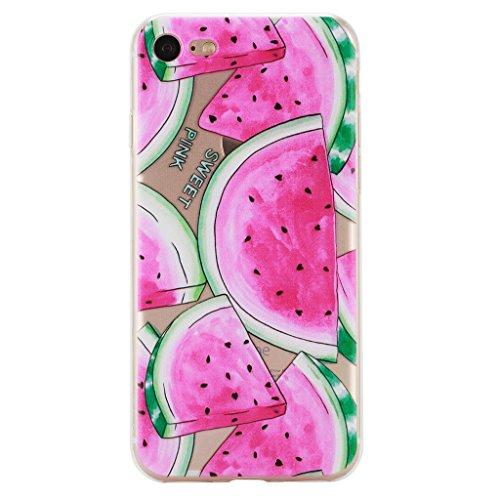 iPhone 7 Cover , YIGA Moda Trasparente Anguria Silicone Morbido TPU Case Custodia per Apple iPhone 7 4.7