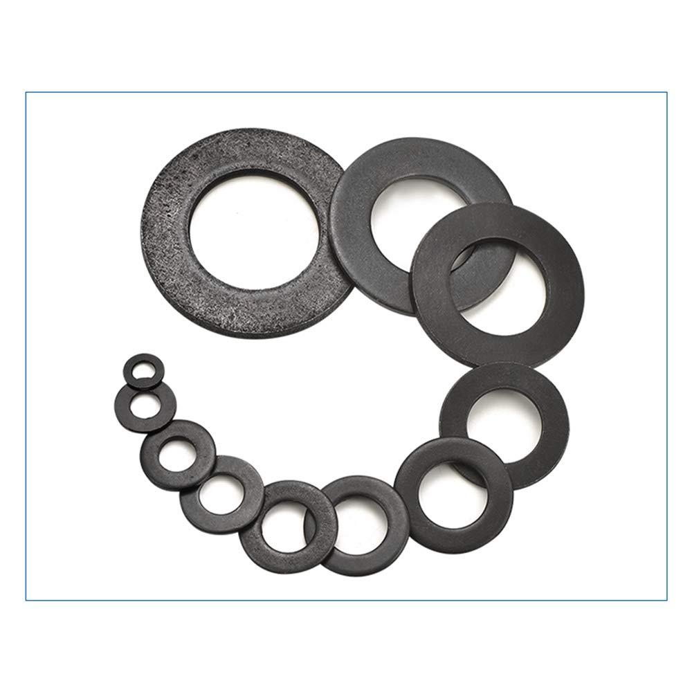 Noir KINDOYO /Épaissir Rondelles x 50 M12*24 * 2mm R/ésistance /à Haute Temp/érature Screw Washers Rondelle en Acier au Carbone