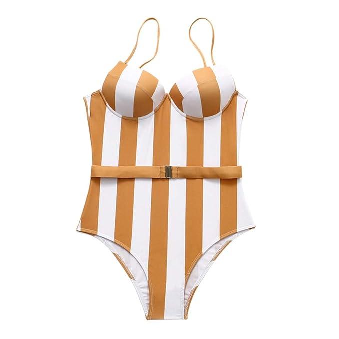 7bdd02f38830 SMENGG Bikini Sexy Costume Intero da Donna da Bagno Imbottito con Stampa  Push-up Imbottita