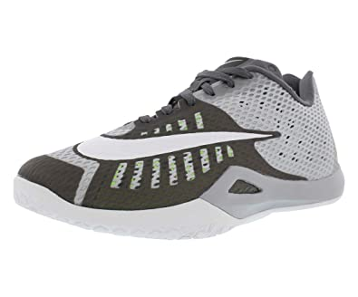 126f247af59 Nike Men s Hyperlive Basketball Shoe Wolf Grey Pure Platinum Dark Grey White  Size