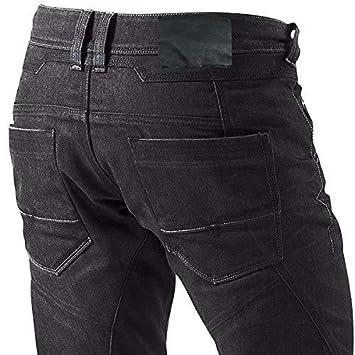 , Schwarz Jet Motorradhose Jeans Kevlar Aramid Mit Protektoren Herren L 50 Kurz//Weite 34 L/änge 30