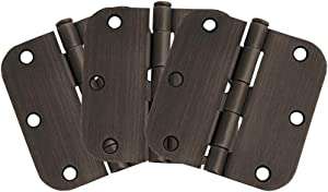 "Design House 181438 3-Pack Hinge 3.5"", Oil Rubbed Bronze"