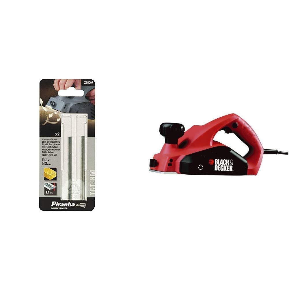 2 Black /& Decker X35007 Cepillo Blades 82 mm x 5.5 mm x 1.1 mm TCT//HM