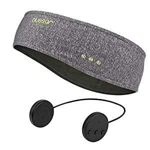 Blue ear® Bluetooth Music Sports Headbands BWH12 Sweatbands For Outdoor Running Riding Hiking Walking Yoga Gym Fits For All Seasons (One size fits all, Grey)