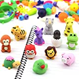 Animal Erasers,YeeTeching Pack of 30 3D Animal Erasers for Kids,Pull Apart 3D Mini Erasers for Birthday Party,Animal Puzzle Erasers for Classroom Rewards, Party Favors, Games Prizes,