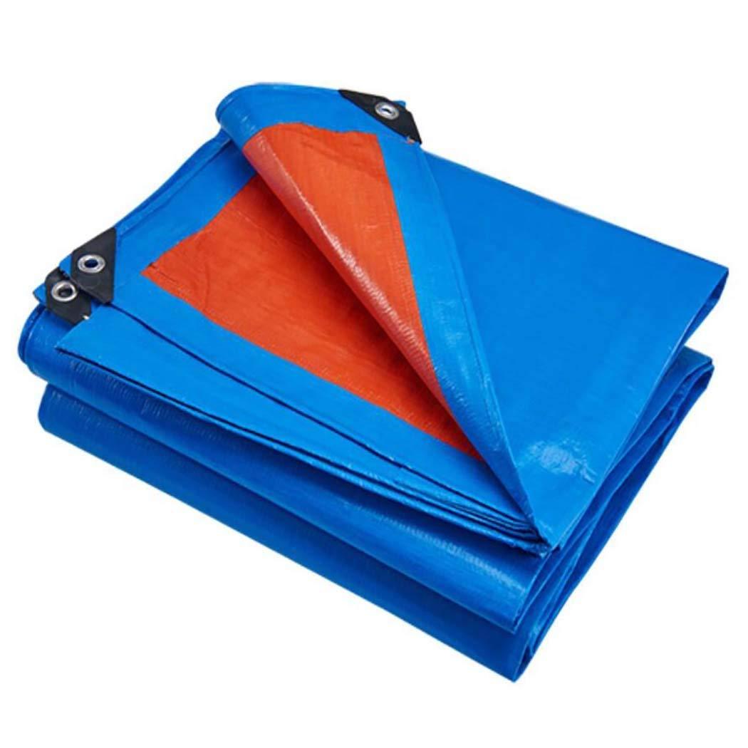 HSBAIS 防水性防水シート、天幕ターポリンカバー、日焼け止め布ボート用屋外リバーシブル、RVまたはプールカバー,blue_6x4m B07KQZSR9D Blue 6x4m