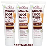 Miracle of Aloe, Miracle Foot Repair Cream with 60% UltraAloe 1 ounce tube, 3-pack